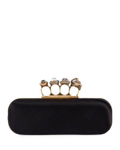 Jeweled Four-Ring Clutch Bag