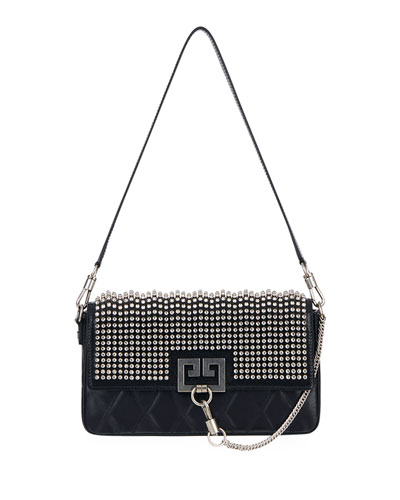 Charm Small Studded Leather Shoulder Bag