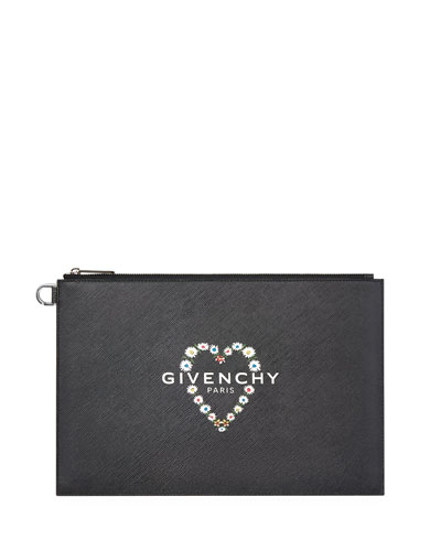 9fc51e3613 Quick Look. Givenchy · Iconic Prints Medium Flat Pouch Bag. Available in  Black