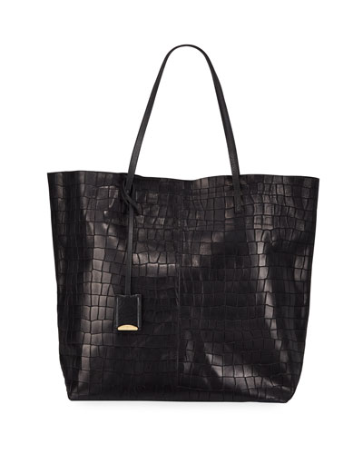 Gouverneur Croc-Embossed Medium Tote Bag