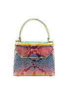 Nancy Gonzalez Lily Small Python Top-Handle Crossbody Bag
