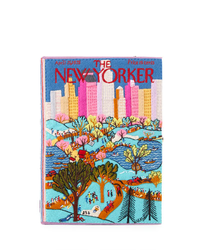 Central Park Book Clutch Bag
