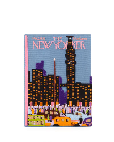 New Yorker Skyline Book Clutch Bag