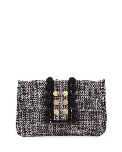 Tweed Pouch Clutch Bag