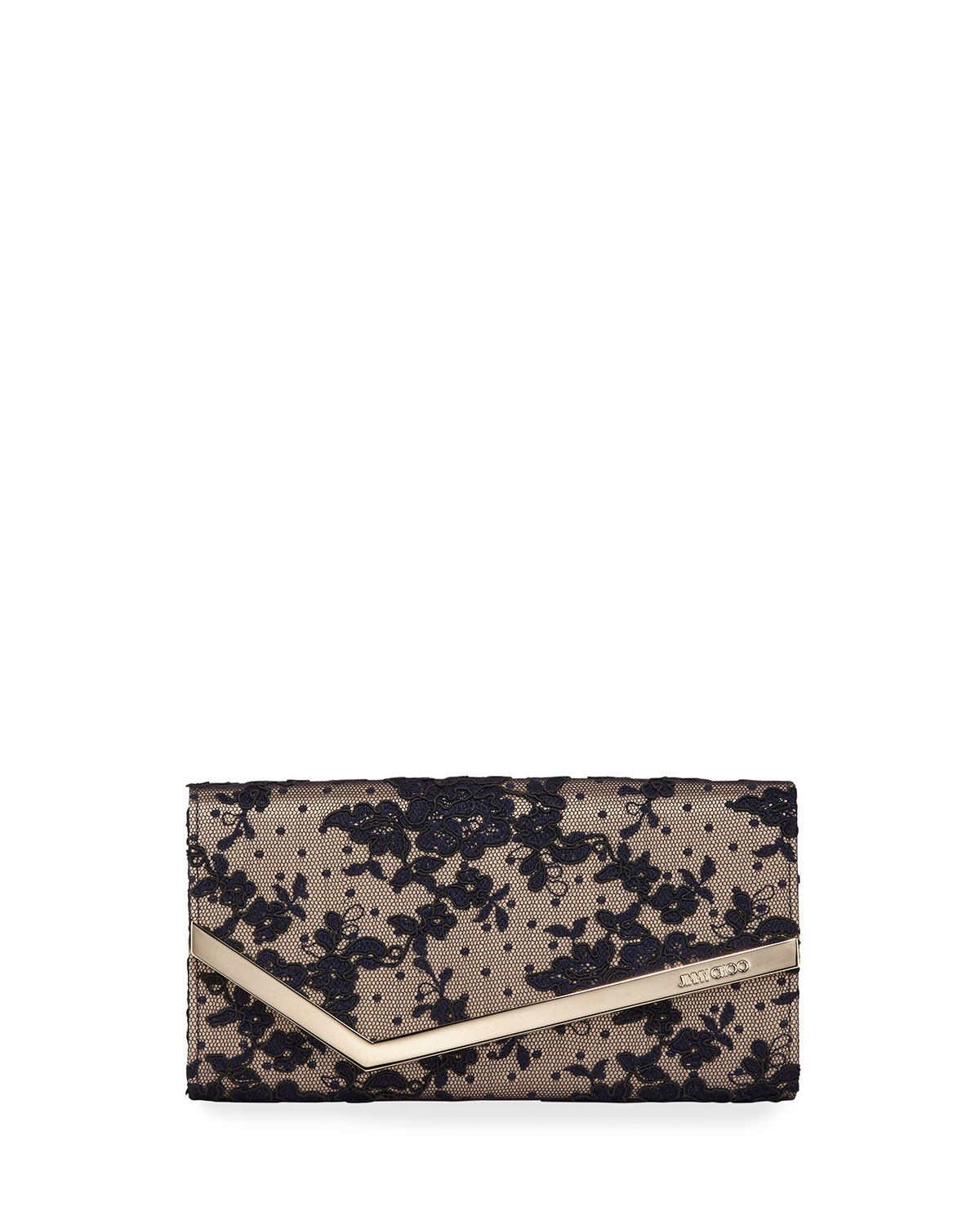 Jimmy Choo Tops EMMIE FLORAL LACE CLUTCH BAG