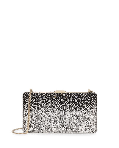 Clemmie Suede & Crystal Clutch Bag