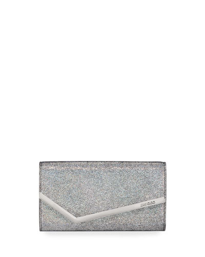 Emmie Hologram Leather Clutch Bag