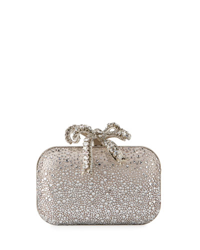 Cloud Crystal Bow Clutch Bag