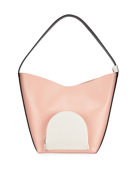 Complet Eva Colorblock Leather Bucket Bag, Blush