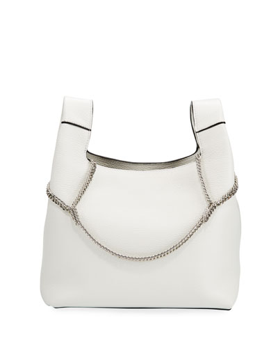 New Chain Leather Top-Handle Bag