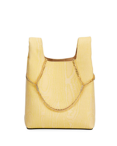 Mini Chain Moire Clutch Bag - Golden Hardware