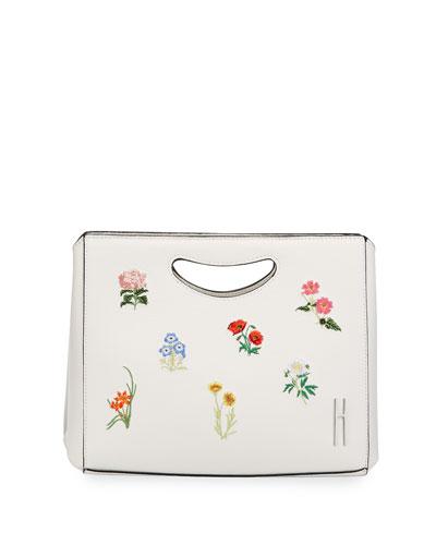 1712 Basket Embroidered Clutch Bag