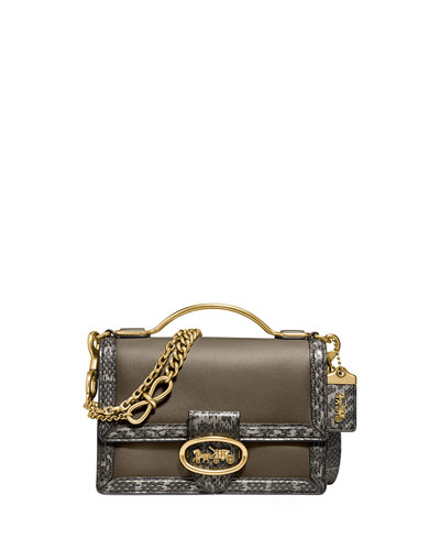 Riley 22 Top-Handle Crossbody Bag with Exotic Details