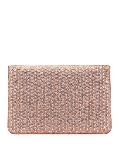 Loubi Krypton Glitter Clutch Bag