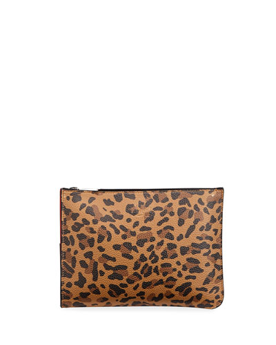 Loubipochette Leopard Small Clutch Bag