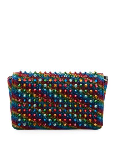 ZoomPouch Spike Glitter Lurex Clutch Bag