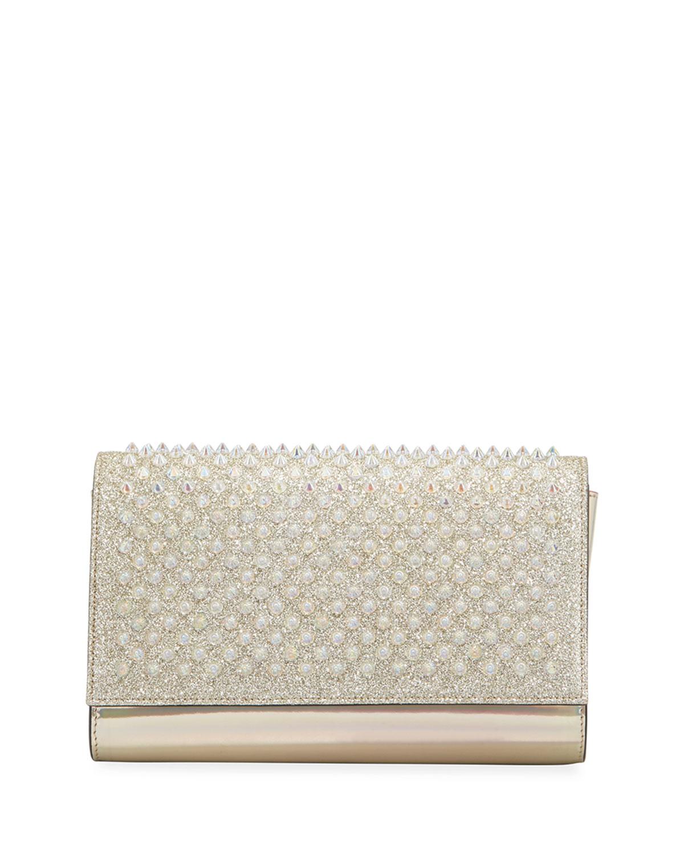 a0b289ca56 Christian Louboutin Mini Paloma Studded Clutch - Ivory | ModeSens
