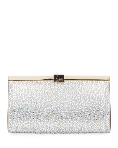 Palmette Embellished Clutch Bag