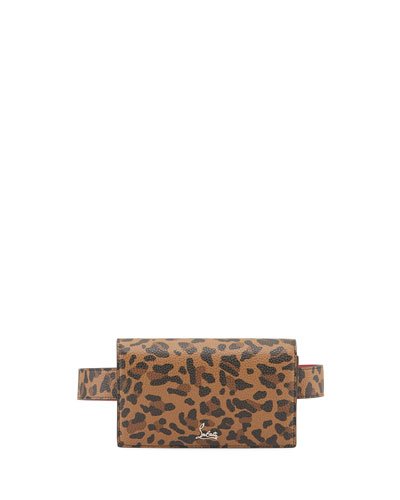 Boudoir Chain Leopard-Print Belt Bag