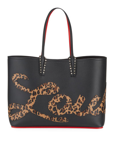 edc22f04d149 Quick Look. Christian Louboutin · Cabata Empire Logo Rio Leopard-Print Tote  Bag. Available in Black Pattern