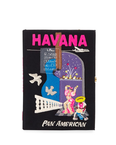 Havana Embroidered Book Clutch Bag