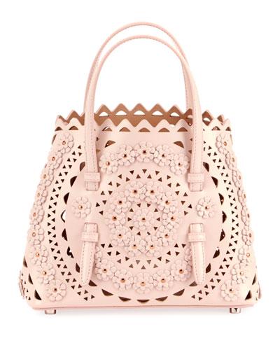 Mina Mini Cuir Lux Crossbody Bag