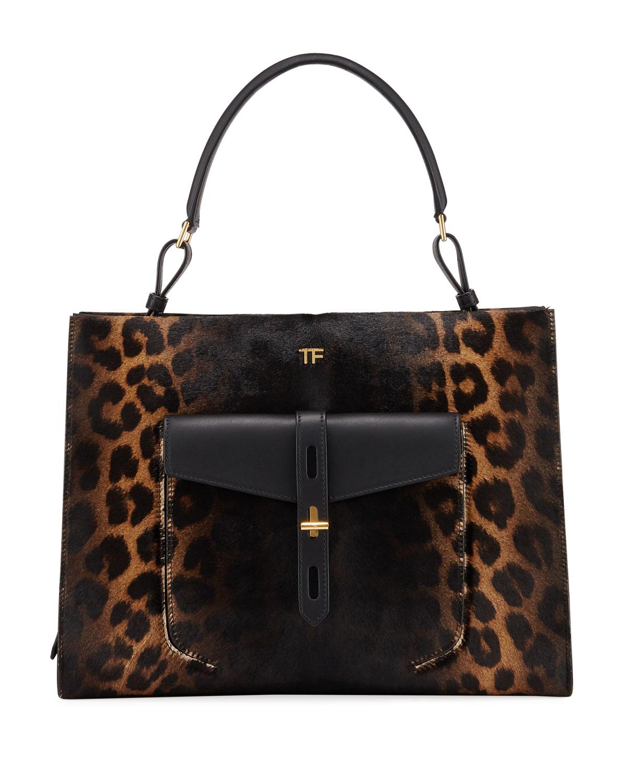Rialto Medium Leopard Top-Handle Bag