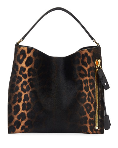 Alix Small Ombre Leopard Hobo Bag