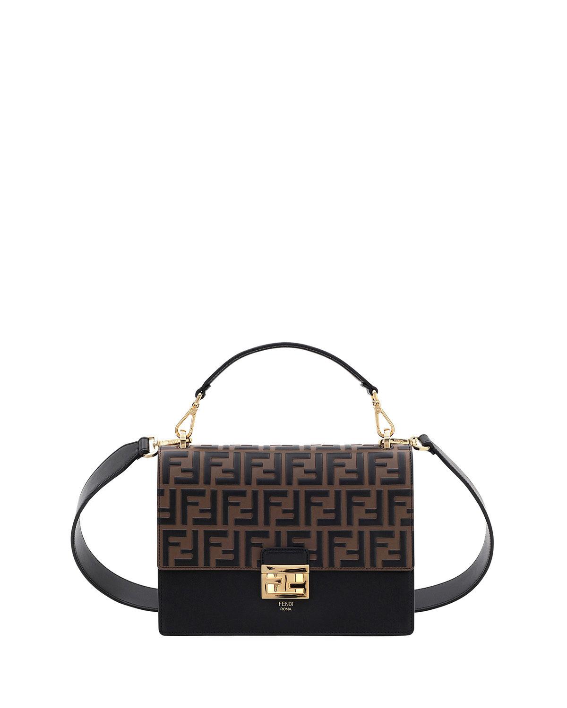 3bb71e93a5a5 Fendi Kan I Ff-Embossed Crossbody Bag In Black Pattern