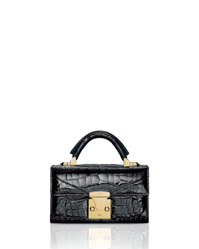 87d756eddb Quick Look. STALVEY · Mini Crocodile Top Handle Bag