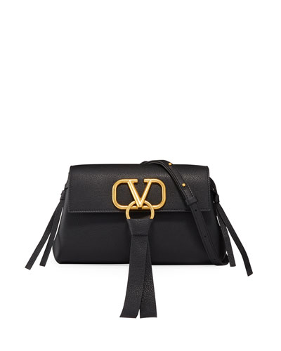 V-Ring Small Leather Clutch Bag