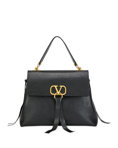 V Ring Medium Single-Handle Shoulder Bag