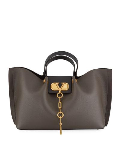 6a37b7e77 Black Pebbled Leather Handbag | Neiman Marcus