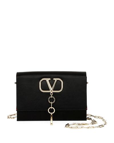 V Case Small Satin Shoulder Bag