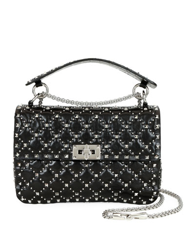 Spike.It Medium Micro-Stud Leather Shoulder Bag