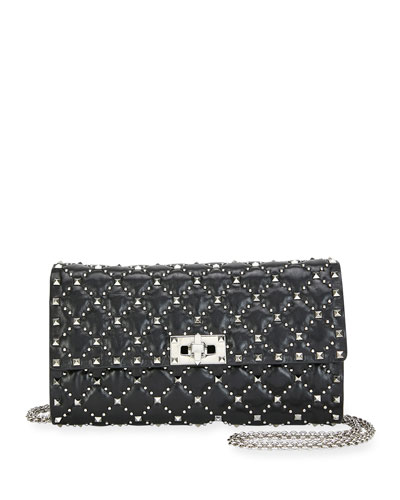Spike.It Micro-Stud Quilted Crossbody Bag