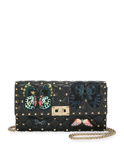 Spike.It Butterfly Leather Crossbody Bag