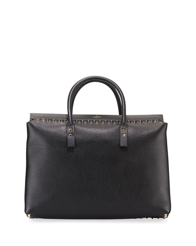 Rockstud Medium Top-Handle Tote Bag