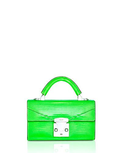 Mini Lizard Top Handle Bag, Bright Green