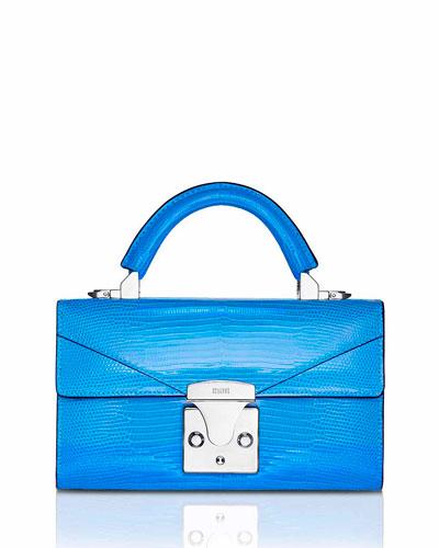 Mini Lizard Top Handle Bag, Bright Blue