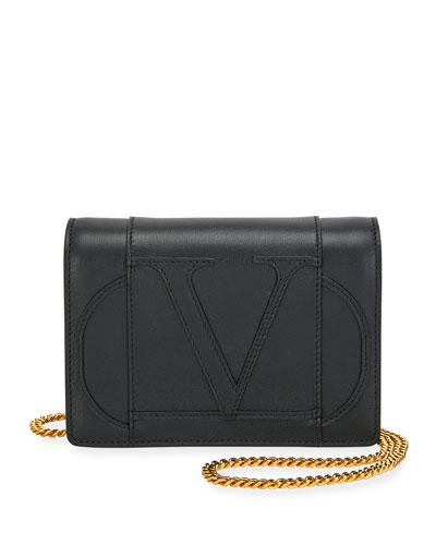 VLOGO Leather Crossbody Bag