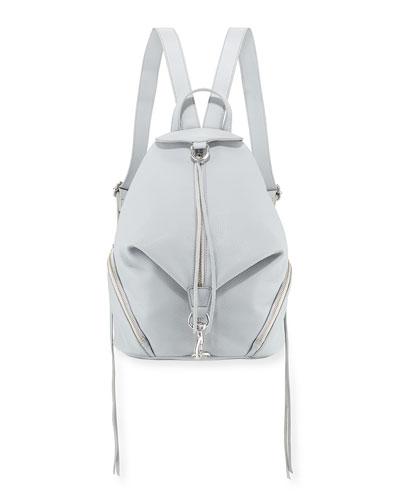 Julian Vertical-Zip Leather Backpack