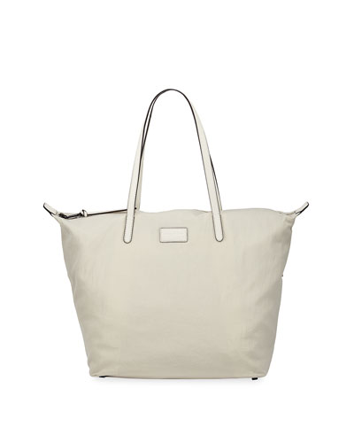 Washed Nylon Large Tote Bag