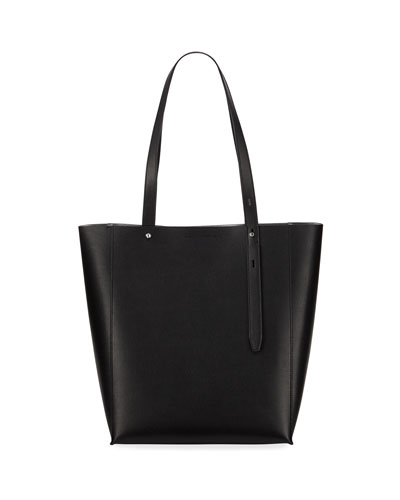 Stella Large Leather Tote Bag, Black