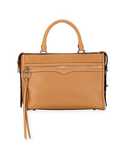 Bedford Leather Zip Satchel Bag
