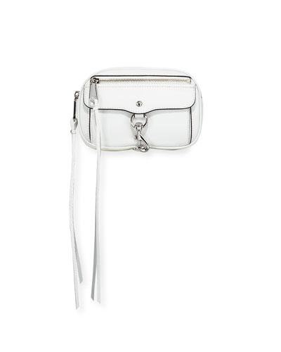 Blythe Leather Belt Bag, White
