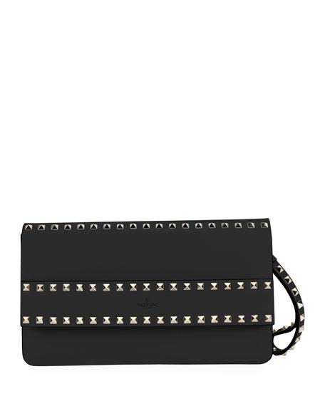 Valentino Garavani Rockstud Leather Clutch Bag