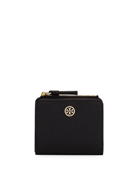 Tory Burch Robinson Mini Saffiano Leather Wallet