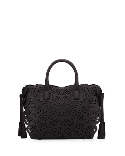Liara Mini Butterfly Tote Bag, Black