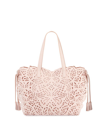 Liara Mini Butterfly Tote Bag, Pink